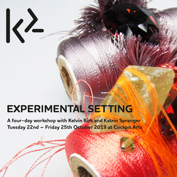 Experimental Setting at K2 Academy of Contemporary Jewellery Cockpit Arts, London